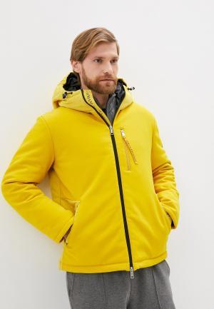 Куртка утепленная Armani Exchange. Цвет: желтый