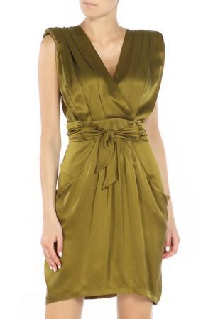 Платье Angelo Marani. Цвет: зеленый