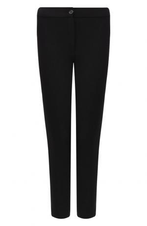 Укороченные брюки из шерсти Ann Demeulemeester. Цвет: черный