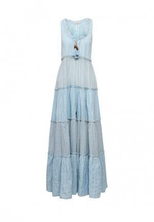 Платье Free People. Цвет: голубой