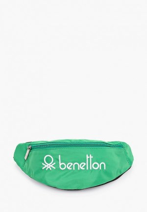 Сумка поясная United Colors of Benetton. Цвет: зеленый
