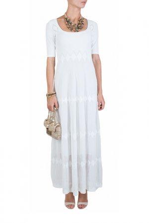 Платье D.Exterior. Цвет: белый