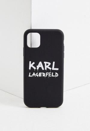 Чехол для iPhone Karl Lagerfeld. Цвет: черный