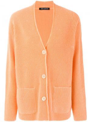 Кардиган с V-образным вырезом Iris Von Arnim. Цвет: жёлтый и оранжевый
