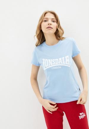 Футболка Lonsdale. Цвет: голубой
