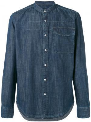 Классическая джинсовая рубашка Hydrogen. Цвет: синий