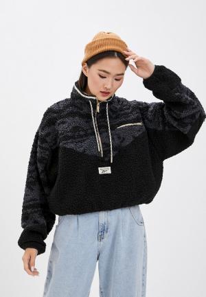 Куртка Reebok Classic. Цвет: черный