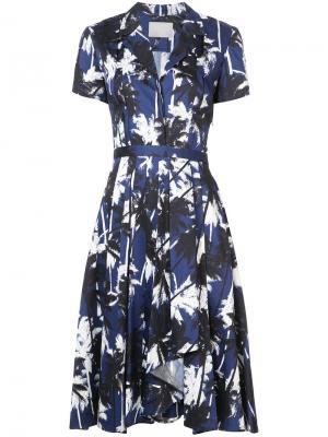 Платье-рубашка с принтом Jason Wu. Цвет: синий