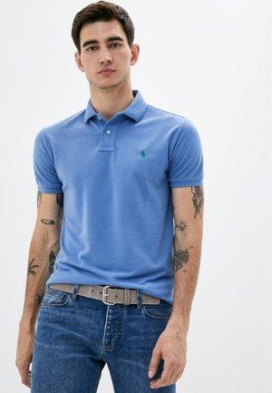 Поло Polo Ralph Lauren. Цвет: голубой
