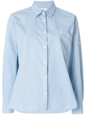 Рубашка с нагрудным карманом Margaret Howell. Цвет: синий