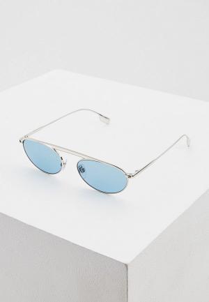 Очки солнцезащитные Burberry. Цвет: серебряный