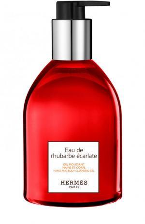 Гель для рук Eau de rhubarbe ècarlate Hermès. Цвет: бесцветный