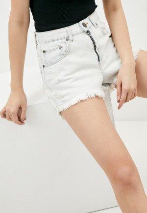 Шорты джинсовые One Teaspoon. Цвет: белый