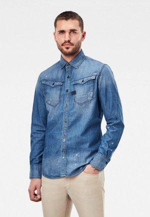 Рубашка джинсовая G-Star. Цвет: синий