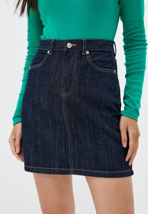 Юбка джинсовая United Colors of Benetton. Цвет: синий