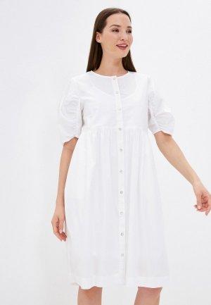Платье Ichi. Цвет: белый