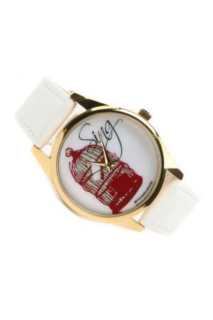 Часы Птичка в клетке MITYA VESELKOV. Цвет: белый