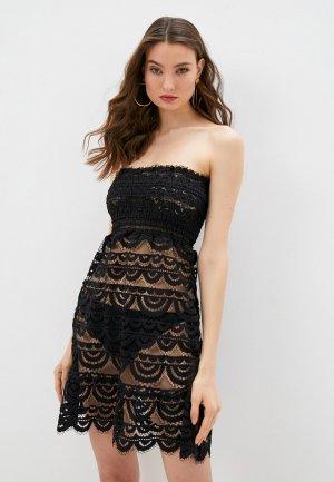 Платье пляжное Pilyq. Цвет: черный