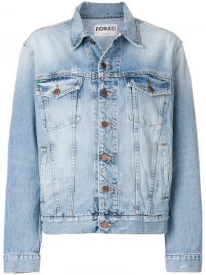 Джинсовая куртка  Nico Fiorucci. Цвет: синий