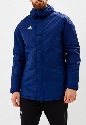 Куртка утепленная adidas. Цвет: синий
