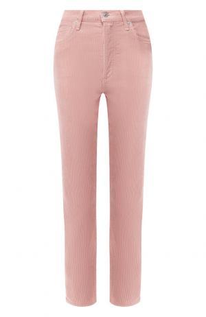 Однотонные джинсы прямого кроя Citizens Of Humanity. Цвет: розовый