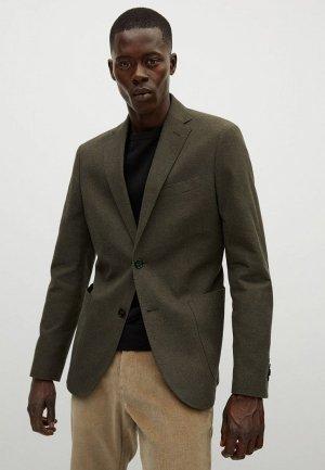 Пиджак Mango Man. Цвет: хаки