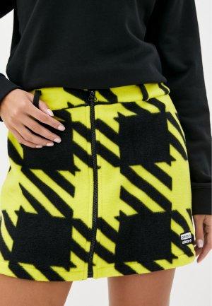 Юбка adidas Originals. Цвет: желтый
