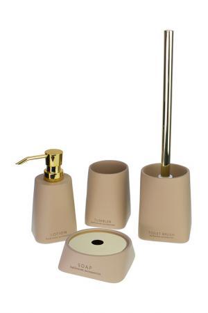 Набор аксессуаров для ванной PROFFI HOME. Цвет: бежевый