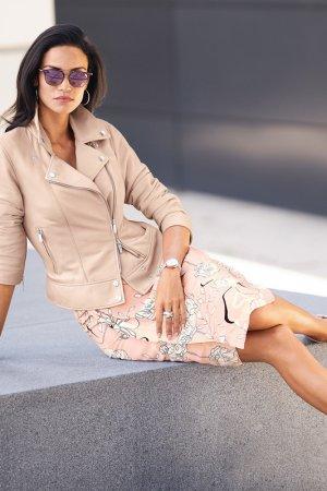 Куртка кожаная MADELEINE. Цвет: puder