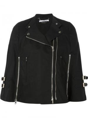 Байкерская куртка кроя кейп Givenchy. Цвет: чёрный