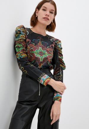 Блуза Desigual. Цвет: черный