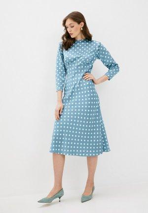 Платье Imocean. Цвет: голубой