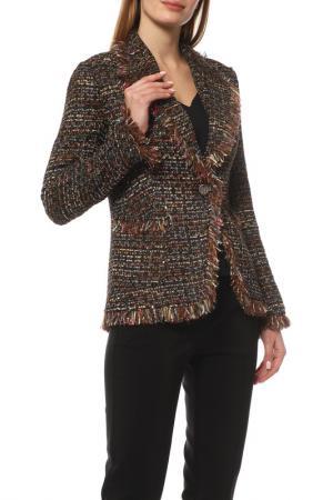 Жакет Disetta. Цвет: коричневый