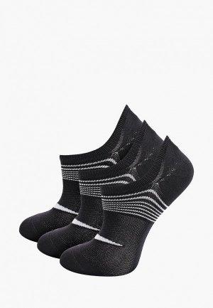Носки 3 пары Nike. Цвет: черный