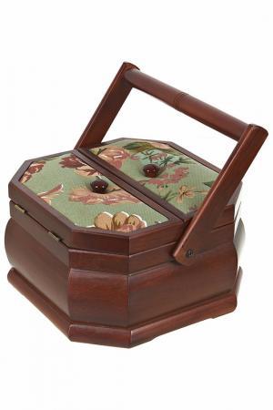 Шкатулка для рукоделия ARTHOUSE. Цвет: коричневый