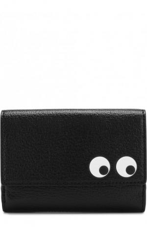 Кожаный кошелек Eyes Anya Hindmarch. Цвет: черный