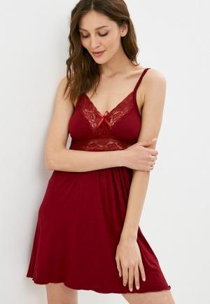 Сорочка ночная Rene Santi. Цвет: бордовый