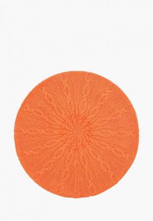 Берет United Colors of Benetton. Цвет: оранжевый