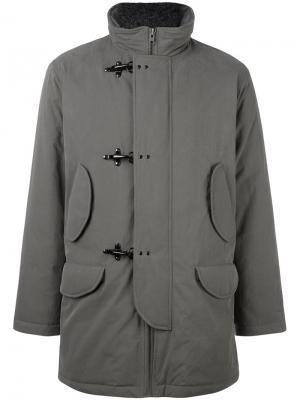 Куртка в стиле дафлкота Fay. Цвет: серый