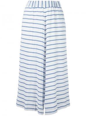 Укороченные полосатые брюки Antonio Marras. Цвет: белый