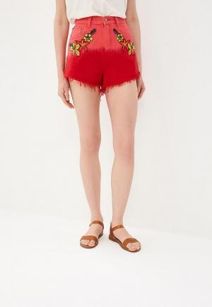 Шорты джинсовые Glamorous. Цвет: красный