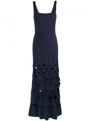 Cut out details gown Gloria Coelho. Цвет: синий