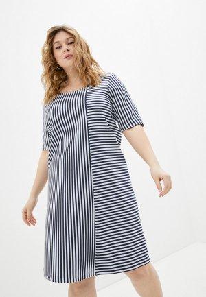 Платье Persona by Marina Rinaldi. Цвет: синий