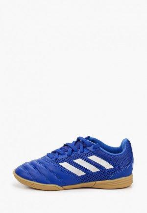 Бутсы зальные adidas. Цвет: синий