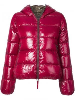 Дутая куртка Thia Duvetica. Цвет: красный
