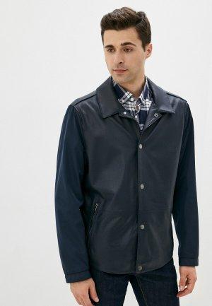 Куртка кожаная Michael Kors. Цвет: синий