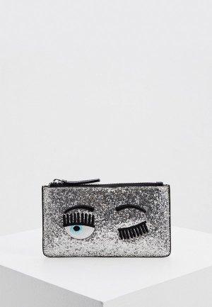 Клатч Chiara Ferragni Collection. Цвет: серебряный