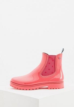 Резиновые ботинки Trussardi Jeans. Цвет: розовый