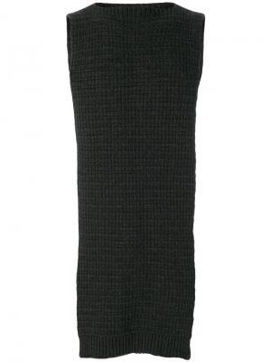 Свитер с шарфом Chalayan. Цвет: серый