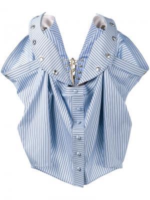 Блузка-бюстье в полоску без бретелек Y / Project. Цвет: синий